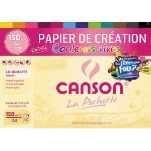 Canson 12 Feuilles de papier dessin 150 g (A4)