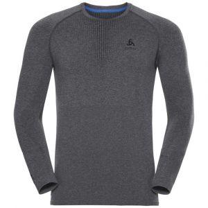 Odlo Vêtements intérieurs Performance Warm Suw Top L/s - Grey Melange / Black - Taille XL