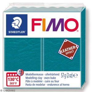 Fimo Pâte à modeler polymère Effect Cuir 57 g 369 Turquoise