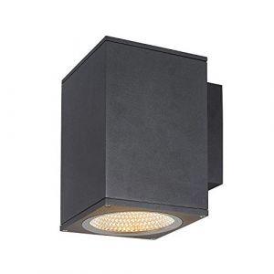 SLV ENOLA, applique extérieure, carré, L, anthracite, LED, 35W, 3000K/4000K, IP65 - Lampes sur pied, murales et de plafond (extérieur)