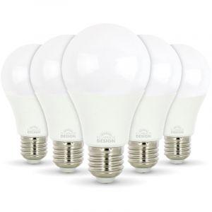 Arum Lighting 5 pcs pack - 10W AMPOULE LED A60 E27 Blanc chaud