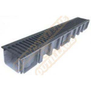 Nicoll Caniveau 1m grille fonte B125 largeur 130 CAL10BF