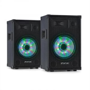 Fenton TL10LED Pack enceintes sono 3 voies woofer 10 LED RVB 2x 500W