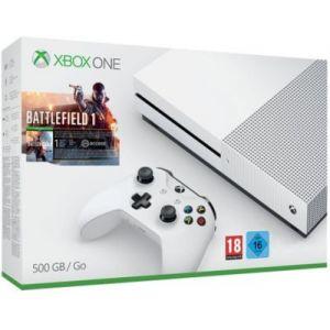 Microsoft Pack Xbox One S 500 Go + Battlefield 1
