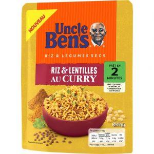 Uncle Ben's Riz et lentilles au curry 2mn 220g