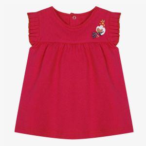 Catimini T-shirt à manches volants rouge Rouge - Fille