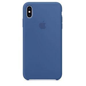 Apple Coque en silicone Bleu de Delft pour iPhone XS Max