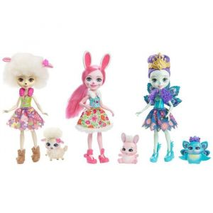 Mattel Enchantimals - Pack 3 mini-poupée & animal
