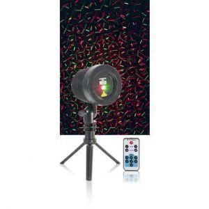 Ibiza Sound LZR-RGOUTDOOR Laser multipoints extérieur rouge et vert avec trepied et télécommande - Noir