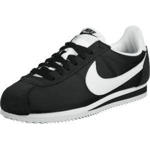 Nike WMNS Classic Cortez Nylon, Chaussures de Running Entrainement Fille, Noir (Black/White), 36 EU