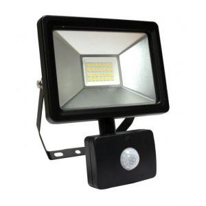 Arev Projecteur LED avec DETECTEUR SLIM GEKKO 10 W NOIR