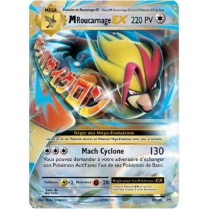 Asmodée Roucarnage - Carte Pokemon XY12 Evolutions PV 220 65/108 Mega Ex Rare VF