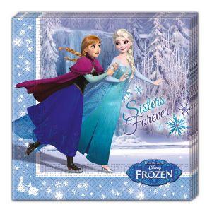 20 serviettes en papier La Reine des Neiges Frozen (33 cm)