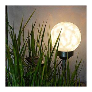 H international HI Lampe boule solaire rotative à LED de jardin 15 cm