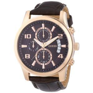 Guess W0076G - Montre pour homme avec bracelet en cuir