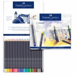 Faber-Castell Boîte de 24 crayons de couleur Goldfaber