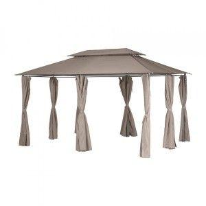 Hesperide Toile de toit noisette pour tonnelle Thira - Marron