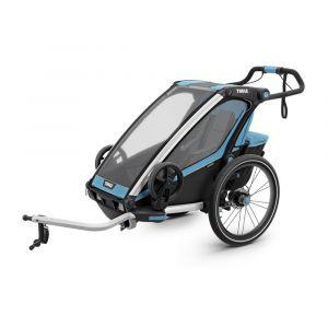 Thule Remorque a enfant chariot sport bleu noir