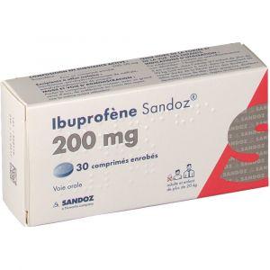 Sandoz Ibuprofène 200 mg - 30 Comprimés