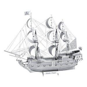 Metal Earth 5061316 - Maquette 3D - Iconx - Bateau Pirate La Perle Noire - 14,61 x 4,45 x 11,43 cm