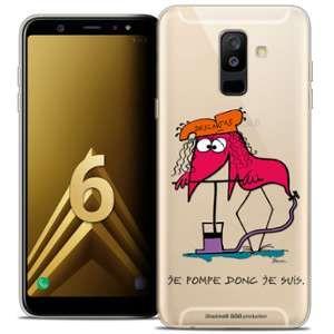 CaseInk Coque Gel Samsung Galaxy A6 PLUS 2018 (6 ) Extra Fine Les Shadoks® - Donc Je Suis