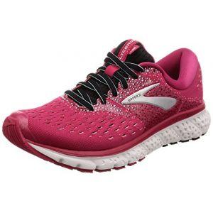 Brooks Glycerin 16, Chaussures de Running Femme, Rose (Pink/Black/Blue 666), 38 EU
