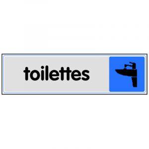 Novap PLAQUE PLEXI COULEUR TOILETTES -
