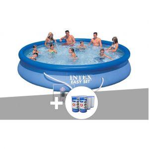 Intex Kit piscine autoportée Easy Set 4,57 x 0,84 m + 6 cartouches