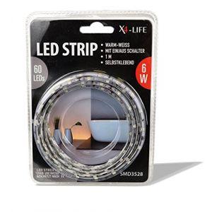 X4-life 701502 Ruban LED (Set complet) avec connecteur mâle 12 V 100 cm blanc chaud