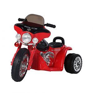 Homcom Chopper Police 6V env. 3 Km/h - Moto électrique pour enfant