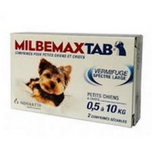 Novartis Milbemax Tab - Vermifuge pour chiots et petits chiens 0,5 à 10 kg