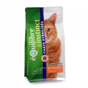 Equilibre & instinct Croquettes de viandes fraîches aux poissons pour chat sachet 500 gr