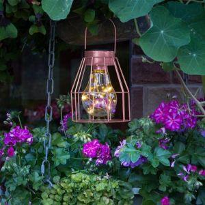 Galix Lampe de table solaire finition cuivrée