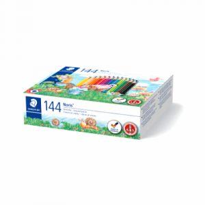 Staedtler 144C144 Pack de 144 Crayons de couleur Assortis