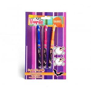 Taldec 3 stylos effaçables Chica Vampiro