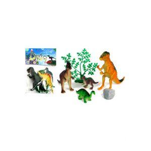 Dinosaures (Lot De 4) + Accessoires Le Géant de la Fête