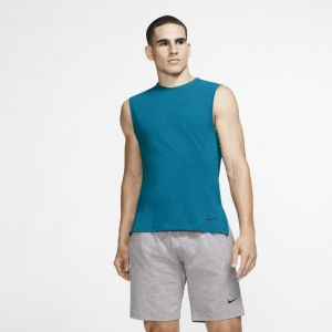 Nike Débardeur de training de yoga Dri-FIT Homme - Bleu - Taille S