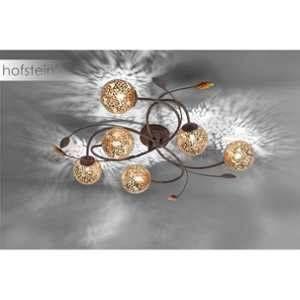 Paul neuhaus Plafonnier LED, Ampoule halogène G9 EEC: selon lampoule (A++ - E) 240 W GRETA 6398-48 rouille, or