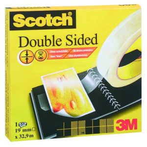 Scotch Ruban adhésif double face 665 transparent (19 mm x 33 m)