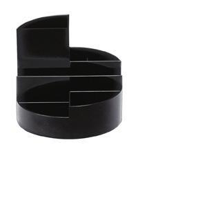 Maul 41176-90 - Organisateur de bureau MAULrundbox, coloris noir