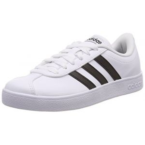 Adidas VL Court 2.0 K, Chaussures de Fitness Mixte Enfant, Blanc (Ftwbla/Negbas 000), 36 2/3 EU