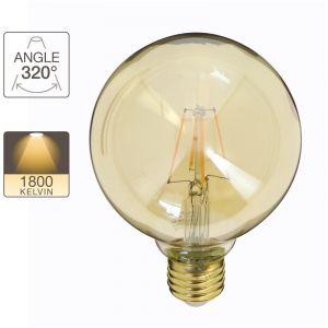 Xanlite Ampoule LED G95, culot E27, 3,8W cons. (30W eq.), lumière blanc chaud
