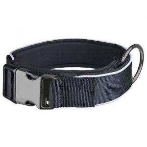 Trixie Experience Collier extra large XS?S: 30?40 cm/25 mm noir pour chien - Sangle d'excellente qualité - Rembourrage complet néoprène - Bandes réfléchissantes - Couleur : noir.