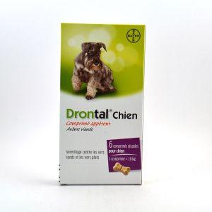 Bayer Drontal - Comprimé vermifuge arôme viande - boîte de 6 comprimés sécables
