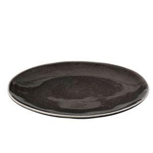 Broste Copenhagen Assiette plate en céramique charbon Nordic Coal Broste Diamètre 26 cmEpaisseur 2,5 cm