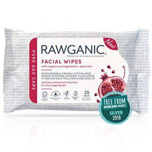 Rawganic Pure Anti-aging Facial Wipes 25 pcs