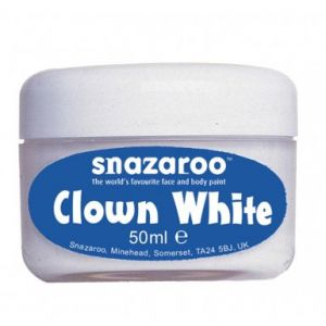 Snazaroo Blanc de clown pot de 50 ml