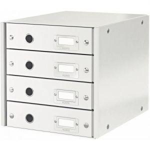 Leitz 6049-00-01 - Bloc 4 tiroirs Click & Store en PP coloris blanc