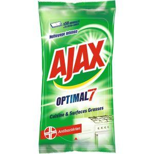 Ajax 50 lingettes anti bactérien cuisine