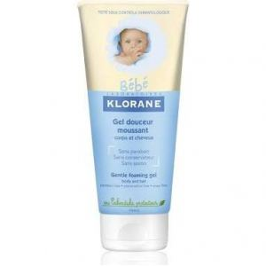 Image de Klorane Bébé Gel douceur moussant corps et cheveux - 200 ml